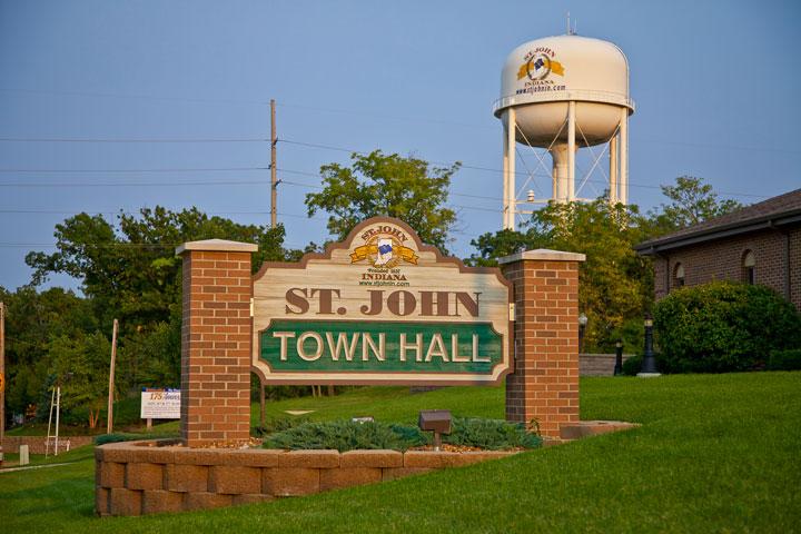 St. John Town Hall Sign
