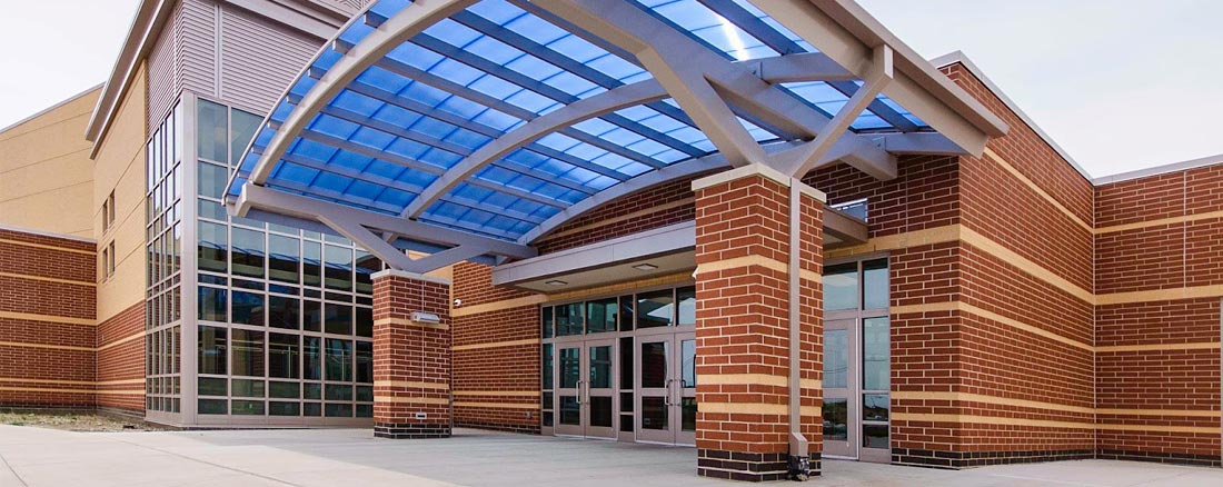 Pool entrance doors of LCHS
