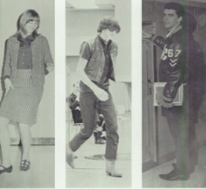 Photo of students of the class of 1967