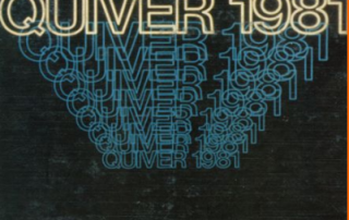 quiver yearbook cover 1981